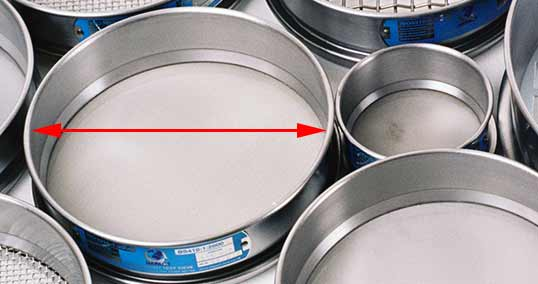 Image showing sieve diameter